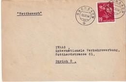 SUISSE 1944 LETTRE DE OBERAACH - Pro Juventute