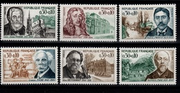 YV 1470 à 1475 N** Celebrites 1966 Cote 3 Eur - France
