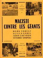 Dossier De Presse Cinéma.Cosmopolis Films. Affichette Maciste Contre Les Géants. - Cinema Advertisement