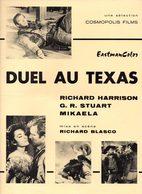 Dossier De Presse Cinéma.Cosmopolis Films. Affichette Duel Au Texas. Richard Harrisson, G.R.Stuart. - Cinema Advertisement