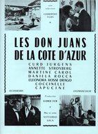 Dossier De Presse Cinéma.Cosmopolis Films. Affichette Les Don Juans De La Côte D'azur. Curd Jurgens,A.Stroyberg. M.Carol - Cinema Advertisement