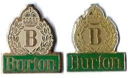 BURTON - B3 - VETEMENTS - 2 Pin's - Verso : SM - Marques