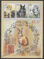 New Zealand - Nouvelle Zelande 1999 Yvert BF 127 Fauna - Domestic Animals - Miniature Sheet - MNH - Nueva Zelanda