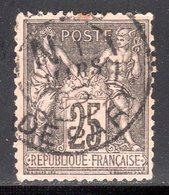 "N° 97 (Sage) Oblitéré ""PARIS-DEPART"" TB: COTE= 9 € - 1876-1898 Sage (Type II)"