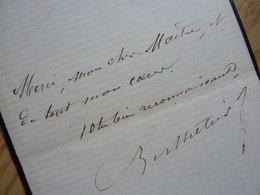 Jean BERTHELIER (1828-1888) Chanteur TENOR Opéra Et Opérette. [ Offenbach ] AUTOGRAPHE - Handtekening