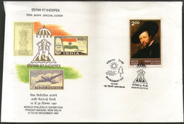 India 1997 INDEPEX 97 Environment Day Rubens Logo Special Cover # 9305 - Environment & Climate Protection