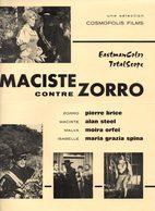 Dossier De Presse Cinéma.Cosmopolis Films. 2 Affichettes : Maciste Contre Zorro Et Zorro Et Les Trois Mousquetaires. - Cinema Advertisement