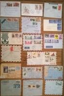 Lot De 32 Enveloppes Et Timbres AFRIQUE - Francobolli