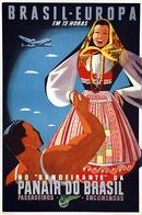 Brazil Aviation Postcard Panair Do Brasil 1947 - Reproduction - Advertising