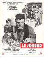 Dossier De Presse Cinéma. Affichette Gaumont. Le Joueur De Claude Autant-Lara Avec Gérard Philippe, Liselotte Pulver. - Cinema Advertisement