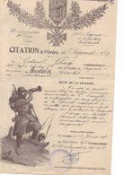 CITATION A L'ORDRE DU REGIMENT N° 31 - 1914-18