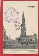 Guerre 1914-18 - 37e Régiment  D'artillerie - Parc Du 33e C.A. Section De Munitions - Franchise Militaire - - Postmark Collection (Covers)