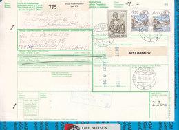 Schweiz - Auslandspaketkarte / Foreign Package Card Rickenbach Bei Wil - Ijmuiden - Postwaardestukken