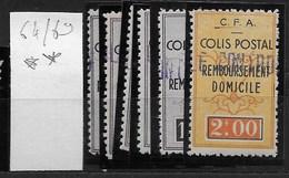 Algérie_Colis Postaux 64 à 69 ** Cote 122,2. - Algérie (1924-1962)