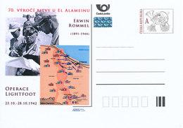 Rep. Ceca / Cart. Postali (Pre2012/62) 70 ° Anniversario Della Battaglia Di El Alamein (1942) Erwin Rommel (1891-1944) - Geografia