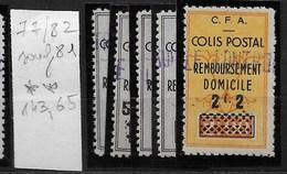 Algérie_Colis Postaux 77 à 82 Sauf 81 ** Cote 143,65 - Algérie (1924-1962)