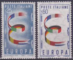 EUROPA - CEPT - Michel - 1957 - ITALIË - Nr 992/93 - MNH** - 1957