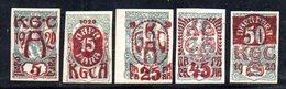 YUG31C - YUGOSLAVIA 1920 , Plebiscito Carinzia : Cinque Valori Linguellati  * - 1919-1929 Regno Dei Serbi, Croati E Sloveni