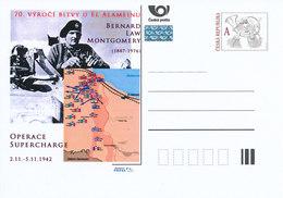 Rep. Ceca / Cart. Postali (Pre2012/63) 70 ° Anniversario Della Battaglia Di El Alamein (1942), Bernard Law Montgomery - Geografia