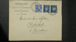 Ambulant Thiers A Clermont Ferrand S1943 Sur Lettre A En Tete Faculté De Pharmacie Nancy - Marcophilie (Lettres)