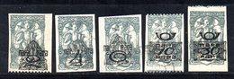 YUG31B - YUGOSLAVIA 1919 . Giornali Serie Unificato N. 13/17  Linguellata  * , - 1919-1929 Regno Dei Serbi, Croati E Sloveni