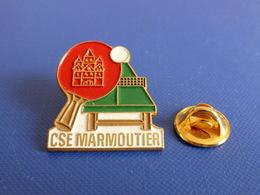 Pin's CSE Marmoutier - Ping Pong Tennis De Table - Bas Rhin (PK11) - Table Tennis