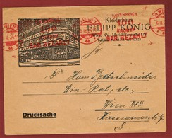 Infla Ab 1. Aug. 1923 Drucksache 100 Kr  Freistempel Bar Bezahlt - 1918-1945 1st Republic