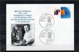 Deutschland, 2006, FDC (individuell) Mit Michel 2573, W. Forßmann/Nobelpreis 1956 - FDC: Enveloppes