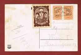 Infla Ab 1. Aug. 1923 Postkarte  Sonderstempel Internat Postwertzichen Ausstellung Wien - 1918-1945 1ra República