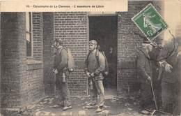 62-LIEVIN- CATASTROPHE DE LA CLARENCE- 2 SAUVETEURS DE LIEVIN - Lievin