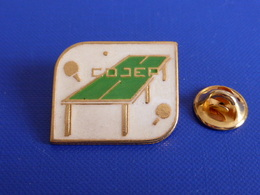 Pin's Cojep - Comité D'organisation De Jeux Et Promotion - Ping Pong Tennis De Table (PK16) - Table Tennis
