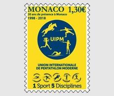 Monaco 2018 1 V MNH 20 Years Of The International Union Of Modern Pentathlon Equestrian Horse Horses Hippisme - Francobolli