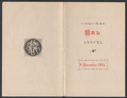 CARNET  DE  BAL  Du 9 Novembre 1895__VOIR SCAN - Vieux Papiers