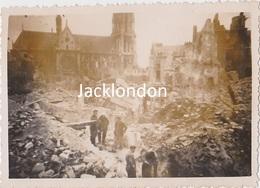 NANTES  - Photographie Originale - Bombardements 23/10/1943 -  Quartier Saint Nicolas - War, Military