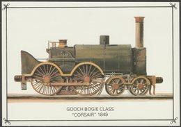 Great Western Railway Gooch Bogie Class 4-4-0ST 'Corsair' - Colourmaster Postcard - Trains