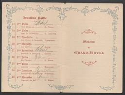 CARNET  DE  BAL Du 25 Novembre 1893 __VOIR SCAN - Vieux Papiers
