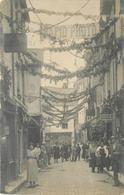CHINON - Souvenir De La Fête Des Fleurs, Rue à Identifier, Carte Photo. - Chinon
