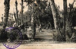 MAROC - MARRAKECH AU GUELLIZ COIN PITTORESQUE CACHET MILITAIRE - Marrakech