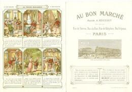 Chromo  Recto Et Verso - Au Bon Marché Le Prince Marcassin  Excellent état Très Frais (scan Difficile) - Au Bon Marché