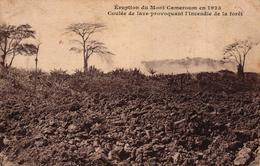 CAMEROUN - ERUPTION DU MONT CAMEROUN EN 1923 COULEE DE LAVE PROVOQUANT L'INCENDIE DE LA FORET - Cameroon