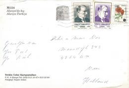 Turkey 1993 Alanya President Ataturk Popy Overprint 1500L Viewcard - 1921-... République