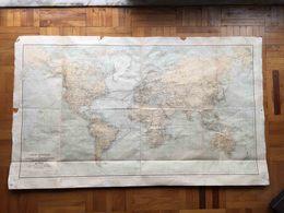 ANTIQUE WORLD BIG COMMUNICATIONS TELEGRAPHIQUES OF WORLD MAP 1920 - Cartes