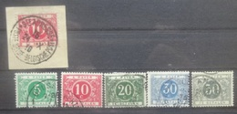 BELGIE   Strafport / Taxe  1916     Tx  12 - 16  + Tx 13 Op Fragment    Gestempeld  CW  180,00 - Portomarken
