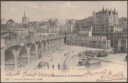Lausanne Et Le Grand Pont, Vaud, 1904 - Charnaux Frères U/B CPA - VD Vaud