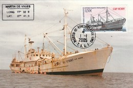 TAAF  Carte Maximum FDC  1/1/2005 - Cap Horn - Bateau - Franse Zuidelijke En Antarctische Gebieden (TAAF)