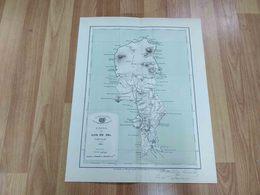 ANTIQUE AFRICA CABO VERDE ILHA DO SAL MAP 1925 - Autres