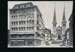 Luzern - Café-Confiserie Scherrer Mit Hofkirche [KSACX 1.563 - Schweiz