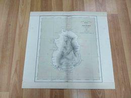 RARE ANTIQUE AFRICA CABO VERDE ILHA DO MAIO MAP 1916 - Autres