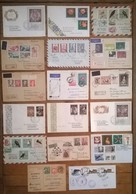 Lot De 17 Enveloppes Et  Timbres  / POLSKA / Pologne /a - Non Classés