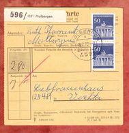 Paketkartenteil, MiF Brandenburger Tor Berlin, Molbergen Nach Vechta 1972 (57014) - Covers & Documents